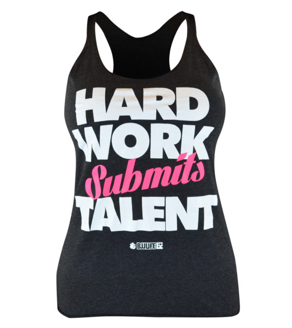 Combat Corner Womens BJJ Life Hard Work Submits Talent Tank-1