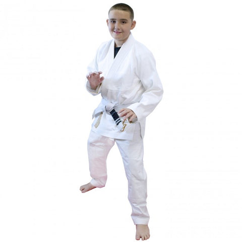 MACHO KIDS GROUND CONTROL KIMONO GI-White-1