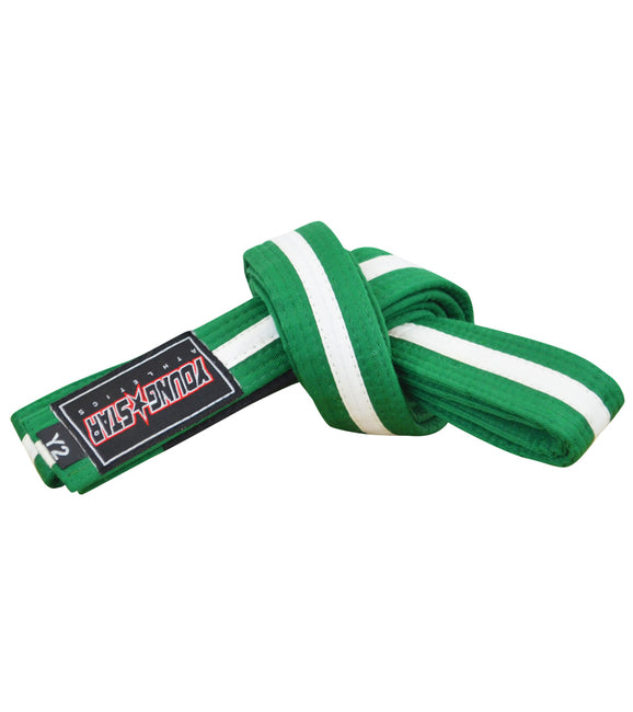 Combat Corner BJJ Belt Green/White