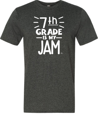 7th Grade Is My Jam Grade Level Tee