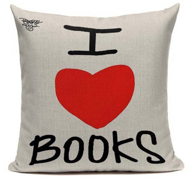 I Love Books Pillow Case