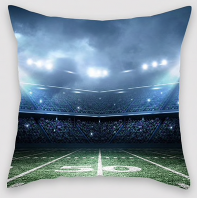 Football Field Pillow Case