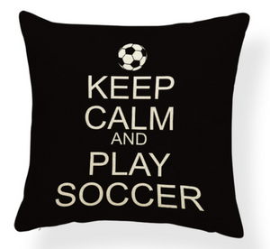 Keep Calm And Play Soccer Pillow Case