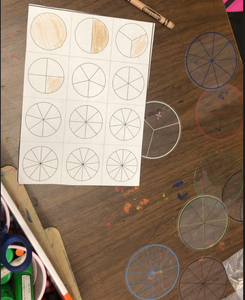 5 Packs of Fraction Circles Math Manipulative(60 Pieces)