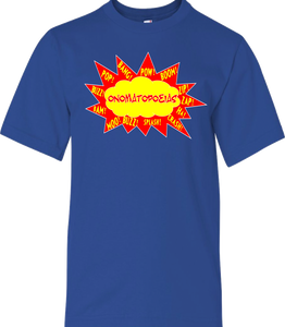 Super Hero Onomatopoeia Youth Tee