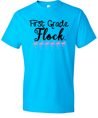 1st Grade Flock Grade Level Tee