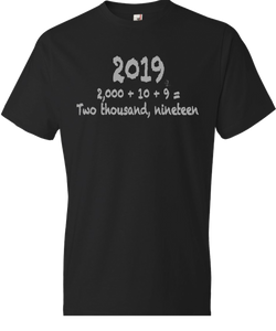 Number Form: 2019 Tee