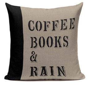 Coffee, Books, & Rain Pillow Case