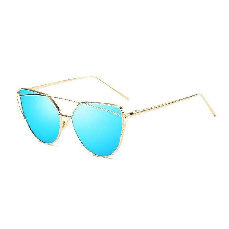 Aria - Gold and Blue Mirrored - Venic-Eyewear