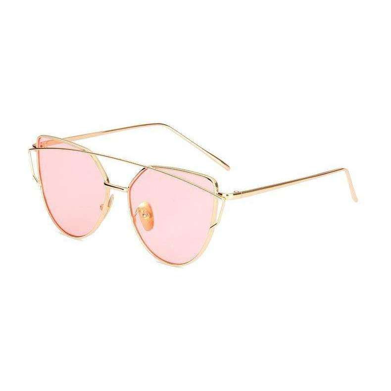 Aria - Gold and Pink Mirrored - Venic-Eyewear