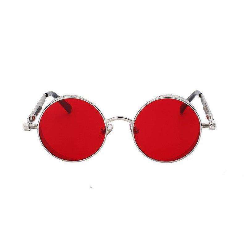 Solstice - Silver & Red  Mirrored - Venic-Eyewear