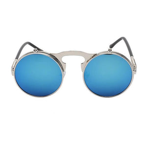 Virgo - Silver & Blue Mirrored - Venic-Eyewear