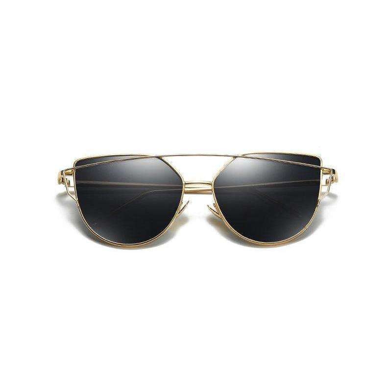 Aria - Gold & Black Mirrored - Venic-Eyewear