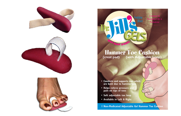Dr. Jill's Gels Gel Hammer Toe Cushion - Adjustable Crest Pad