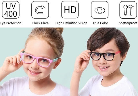 It is almost impossible for parents today to keep their children away from screens, and banning them is not a solution. We can reduce screen time and have them wear our VisionFirst™ Blur Light Filter And Blocking Glasses to protect their little eyes!