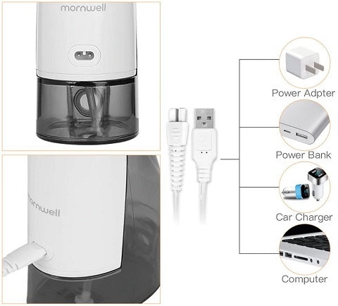 Our Mornwell™ Cordless Ultra Water Flosser, which is the best oral irrigator that can blasts away plaque and debris between teeth and below the gumline for a deep and thorough clean.