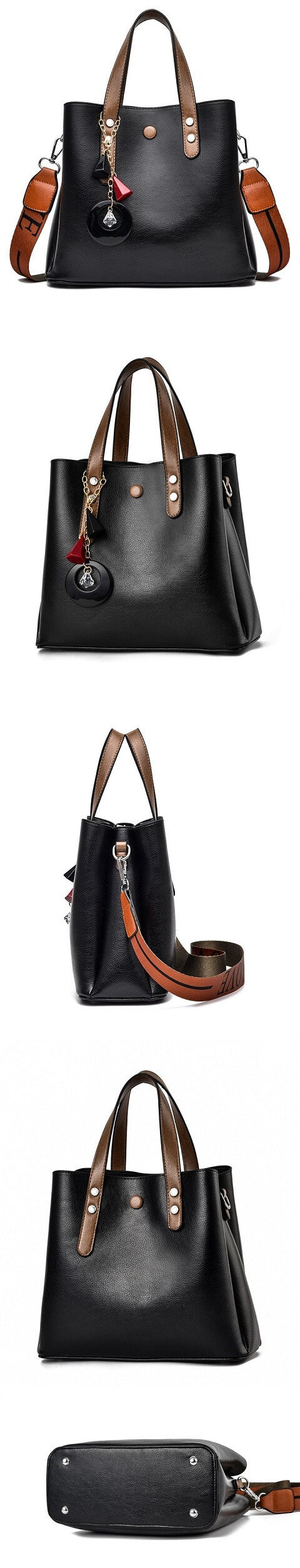 Valerie Gillespie handbag can be transformed from a crossbody bag to a top-handle bag and bucket bag to suit your ensembles.