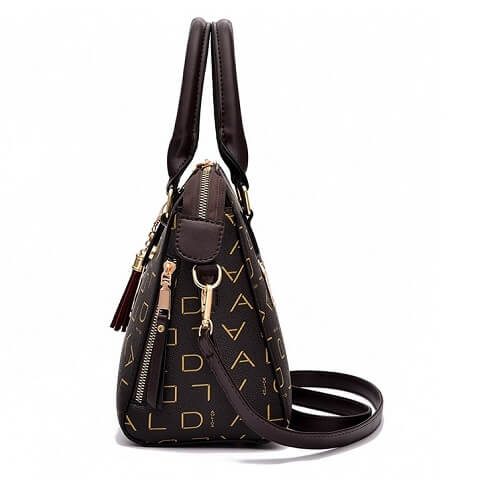 Mikaela Valencia handbag can be transformed from a crossbody bag to a top-handle bag to suit your ensembles.