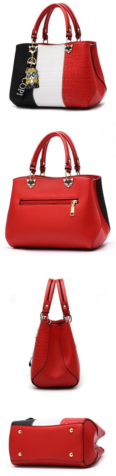 Meghan Richardson handbag can be transformed from a crossbody bag to a top-handle bag to suit your ensembles.