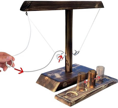 Tanoshi™ Hook And Ring Toss Shot Ladder Game bring friends and families together for good fun and to make new memories.