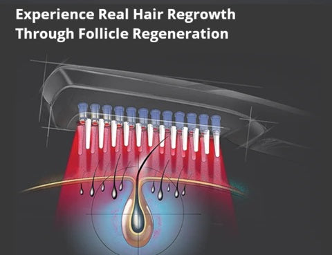 Maikuro™ Infrared Laser Comb - Scalp Massager For Hair Growth is a drug-free alternative for treating hair loss and promote new hair growth effectively.