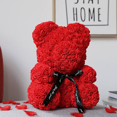 Give someone special a gorgeous TediLove™ Roses Flower Teddy Bear made of roses that last forever. The perfect gift that will look great as a decoration piece in your loved one's home or office. The best gift for Valentine's Day, Mother's Day, Anniversaries, Birthdays, Baby Showers, Gender Reveal, Proposals, Weddings, or any occasion that warrants such a unique and precious gift.