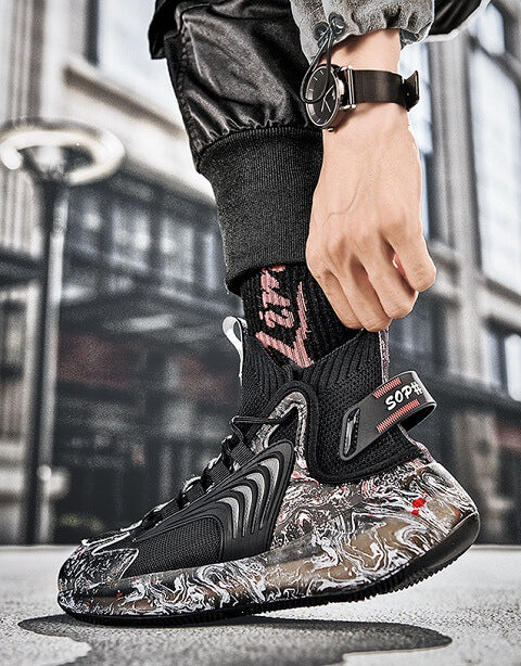 SKR Series Men's Running Basketball Sports Shoes designed with every man in mind, brings you a fast-paced look ready for today's world.