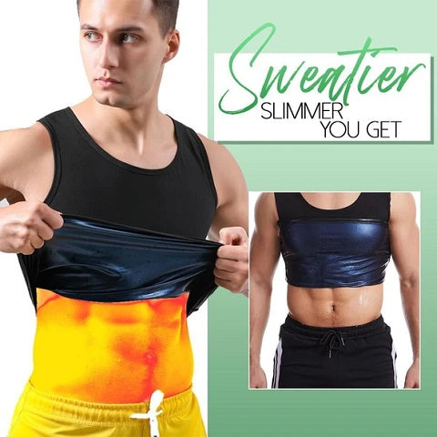 The all-new advanced technology AlphaSweat™ Sweat Shaper Vest - Sauna Suit For Men And Women uses your natural body heat to promote sweating.
