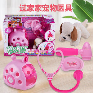 New children's puzzle play girls role-playing simulation feeding pet toys gifts