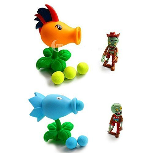 "Toyswill Plants Stuffed Plush Toy - Ice Peashooter 6.7"" Tall-Plants Toys Fire Peashooter Popper"