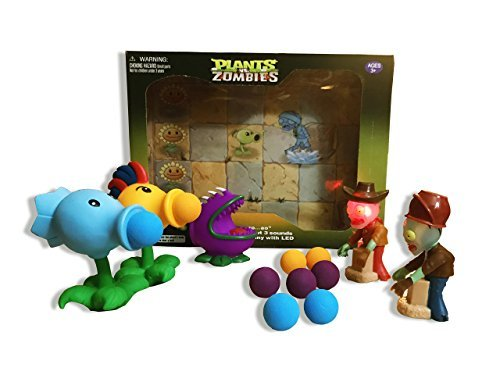 Plants Vs Zombies Gift Box: Firepea, Chomper, and Snowpeas