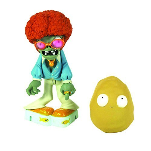 Plants vs Zombies Figures 3'' Disco Zombie with Walnut by Jazwares Domestic
