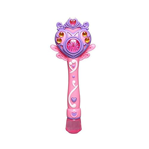 Princess Bubble Stick Toy Electronic Automatic Light Wand Maker Machine Outdoor Bubbles Gun Music Pink Color