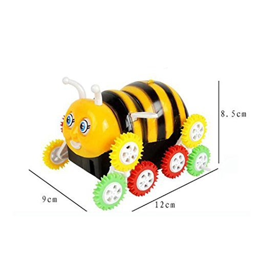 Electric Toy Cars Funny Bee Stunt Cars Skip Automatically Bucket Encounter Obstacle Flip Playing Outdoor or Indoor for Happy Children's Day Gift