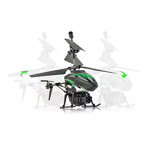 Toy, Play, Fun, Newest RC Drone 3.5CH Helicopter with Machine Gun Launcher 3.5Channal Infrared Control Remote Control Shock Proof Drone ToysChildren, Kids, Game