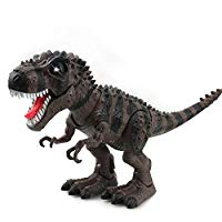 Walking Dinosaur T-Rex Toy Figure with Lights and Sounds Realistic Tyrannosaurus Dinosaur Toys for Kids Battery Operated Color May Vary (Green)