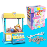 Catch the ball machine _ children catch Doll Mini Electric toy doll music clip clip doll machine coin to catch the ball