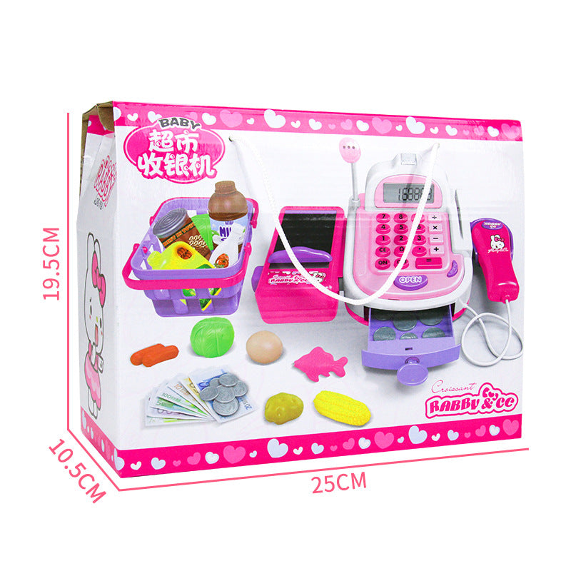 Children register _ shopping basket supermarket cash register baby girl simulation