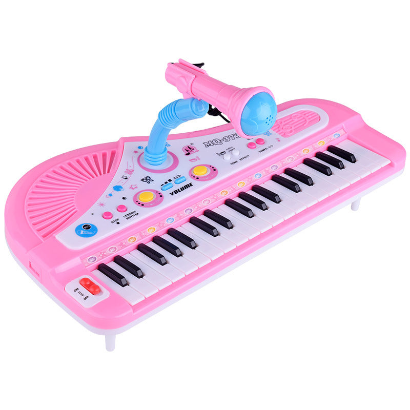 Children's electronic piano _37 key electronic piano tape microphone multi-functional music piano instruments toys