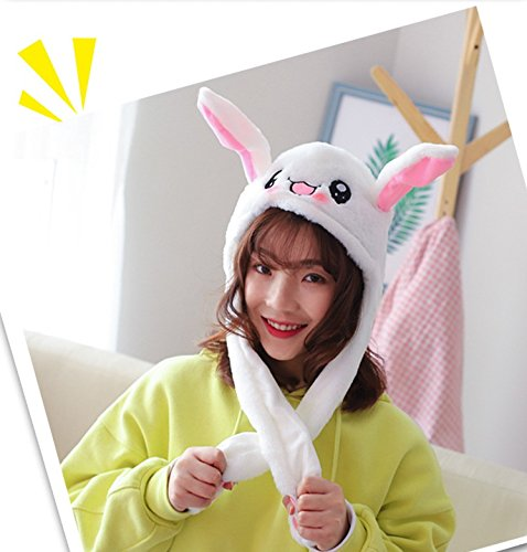 Rabbit Ears Move Plush Hat Gloves Scarf with Airbag Costume Cosplay