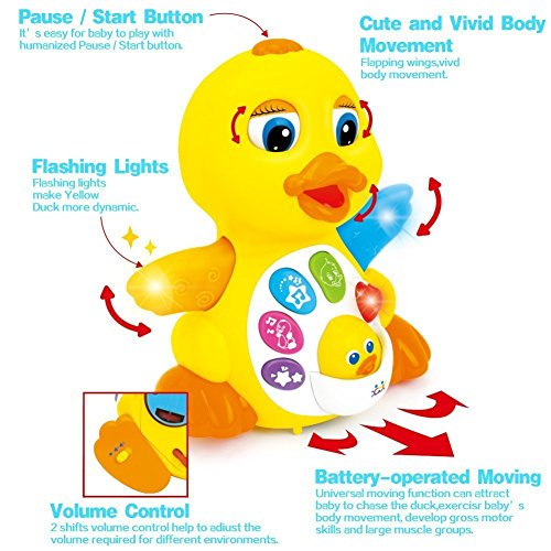 TOYK kids toys Musical Duck toy Lights Action With Adjustable Sound - Toys for girls and boys kids