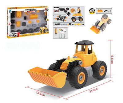 Kidwerkz Bulldozer Toy, Take Apart Toys Fun, Gift for 4 year old boy,