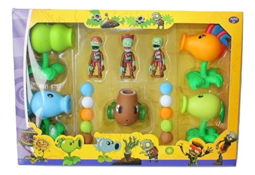 Plants vs Zombies Package Set: 5 Plants 3 Zombies 10 Foam Balls