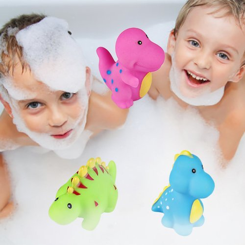 Bath Toys, 6-Pack Little Dinosaur Squirts Fun Bath Toys for Kids, Assorted Colors