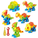 Dinosaur Toys Take Apart Toys With Tools - Pack of 6 Dinosaurs - Construction Engineering STEM