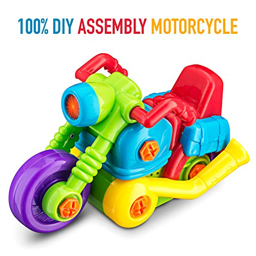 Build your Own and Take Apart Racing Kids Motorcycle DIY Toy