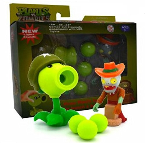 New Plants vs Zombies with Sound and Light - Gun Peashooter (Gun Peashooter)