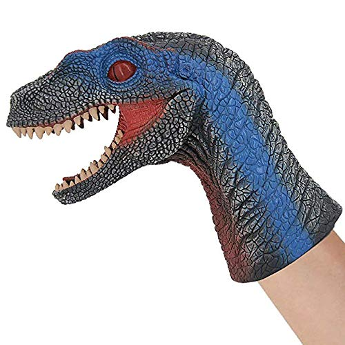 Dinosaur Hand Puppet for Kids, Large Soft Dino Hand Puppets Rubber Realistic Tyrannosaurus Rex