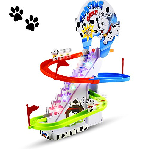 Haktoys Dalmatian Spotty Dog Puppy Chasing Game Playful and Educational Set