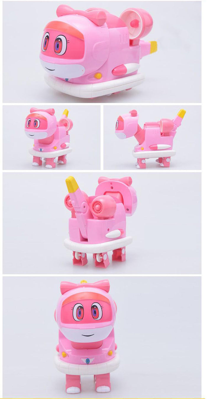 New Cartoon Characters Robot Dinosaur Rescue gogo dino mini transformer Vicki